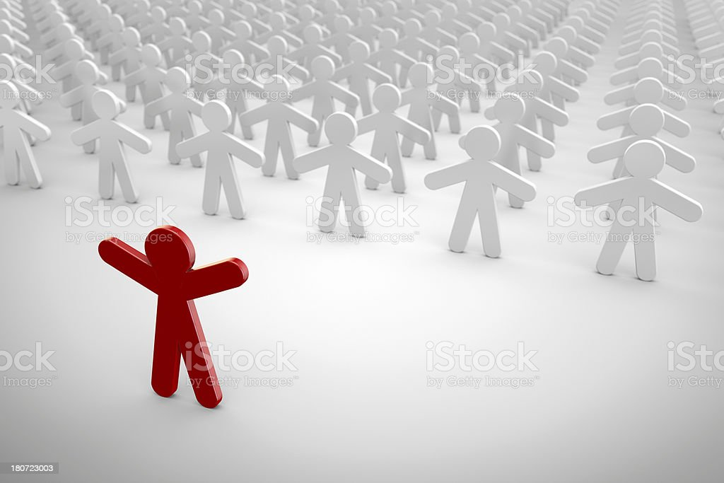 Individuality and leadership concept royalty-free stock photo