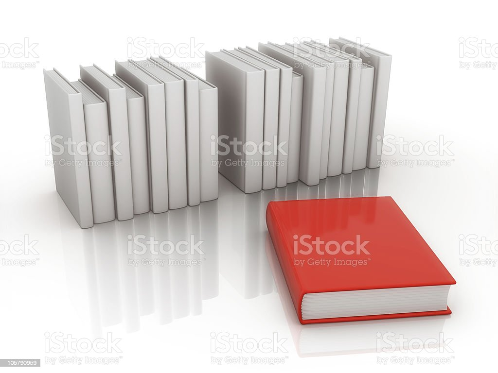 individuality book royalty-free stock photo