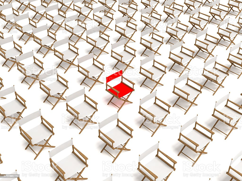 Individuality Concept: Director's Chairs stock photo