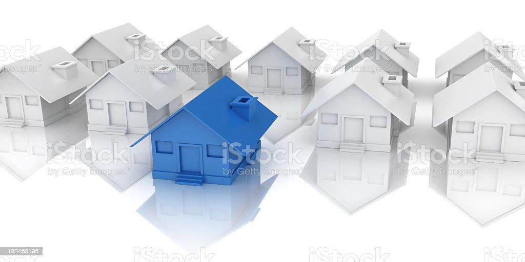Individuality House stock photo