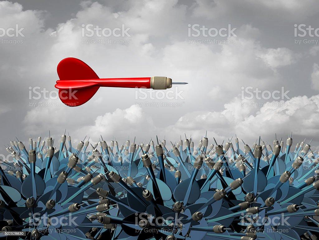 Individuality Strategy stock photo