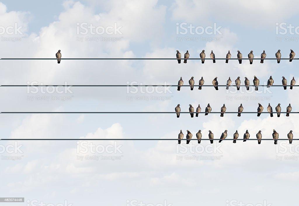 Individuality Symbol stock photo