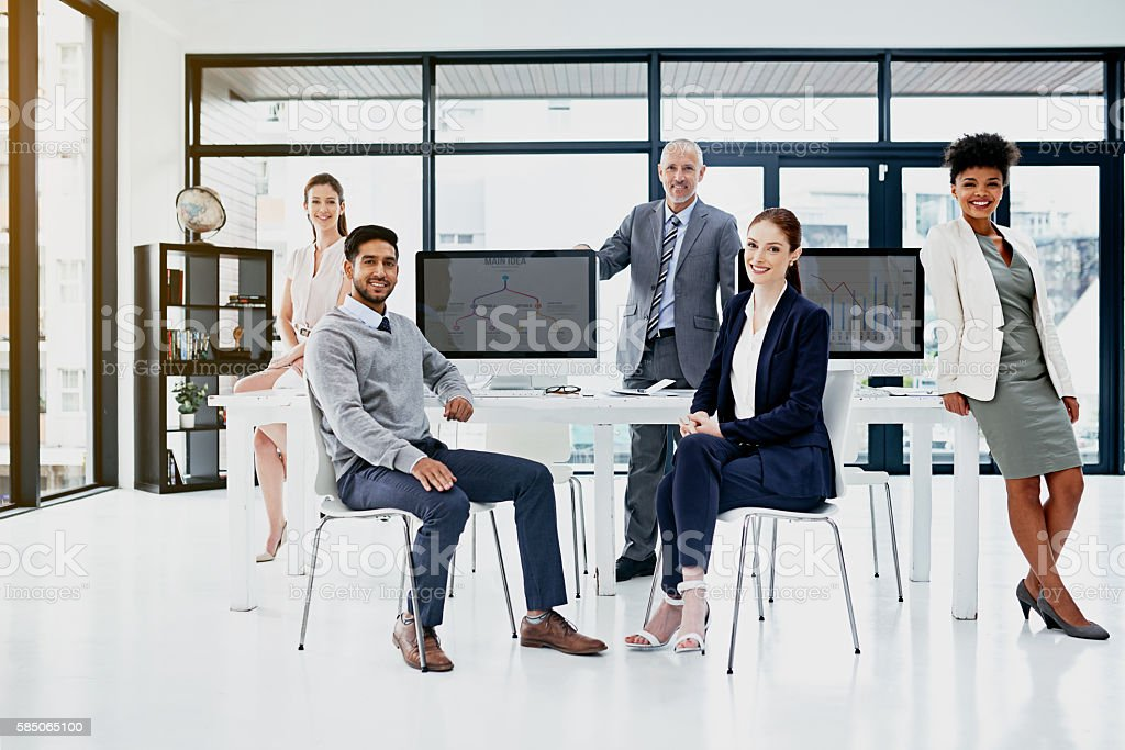 Individuals don't win in business, teams do stock photo