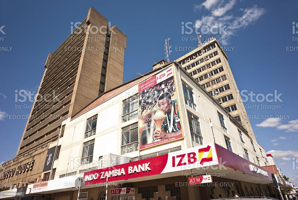 Indo Zambia Bank, Lusaka stock photo