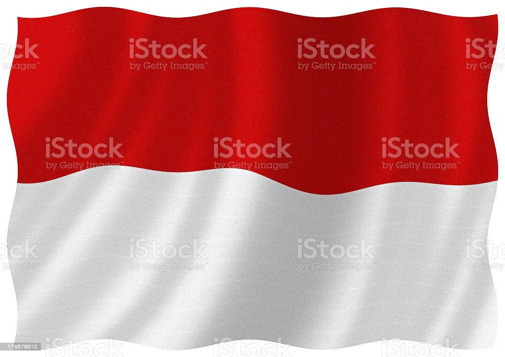 indonesia and monaco flag stock photo