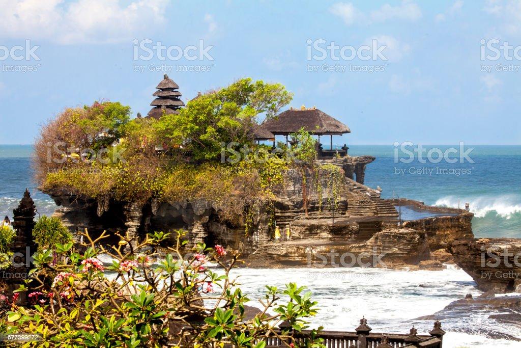 indonesia bali temple tanah lot stock photo