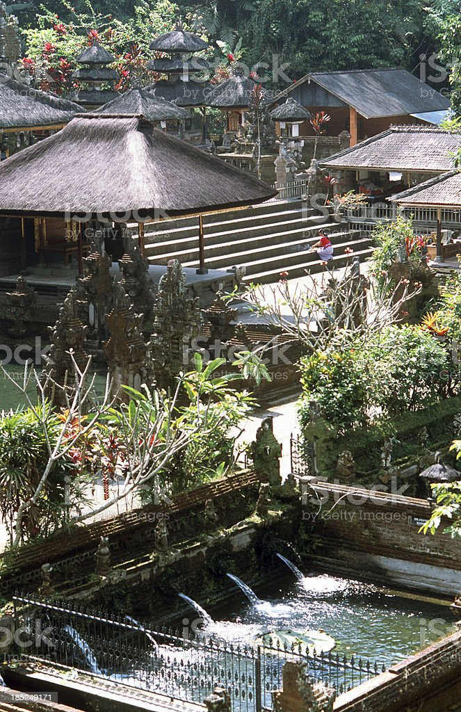 Indonesia, Bali, Temple Tirta Empul, pool. stock photo