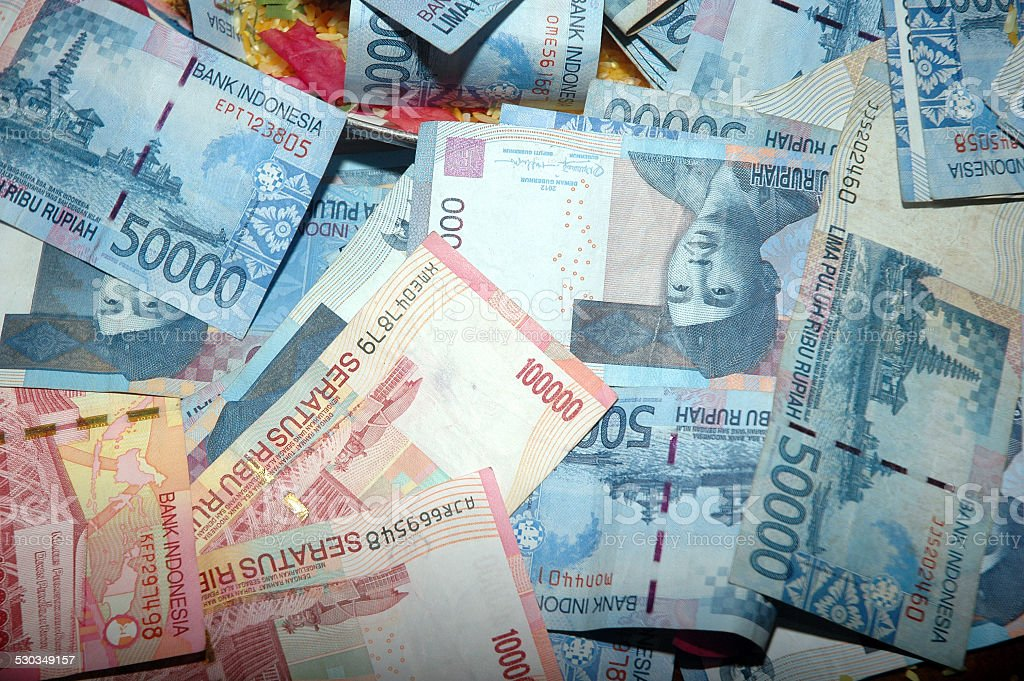Indonesia banknotes stock photo