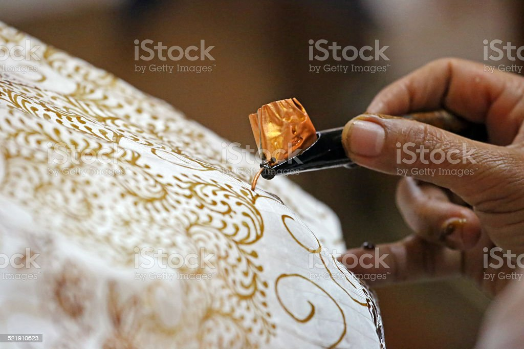 Indonesia: Batik Making in Yogyakarta stock photo
