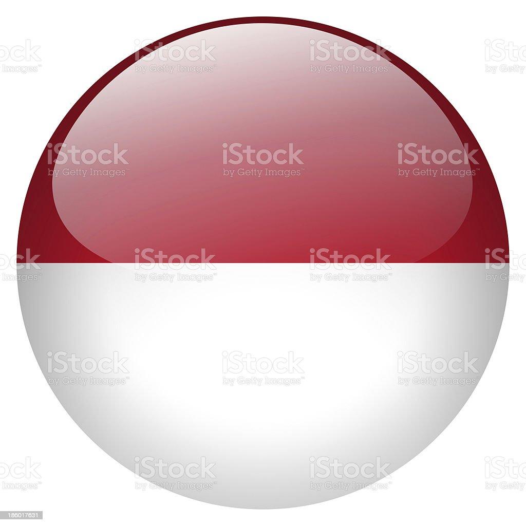 Indonesia button stock photo