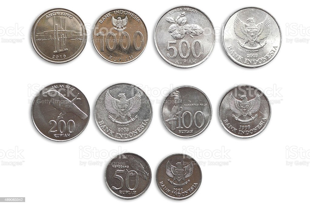 Indonesia Coins stock photo