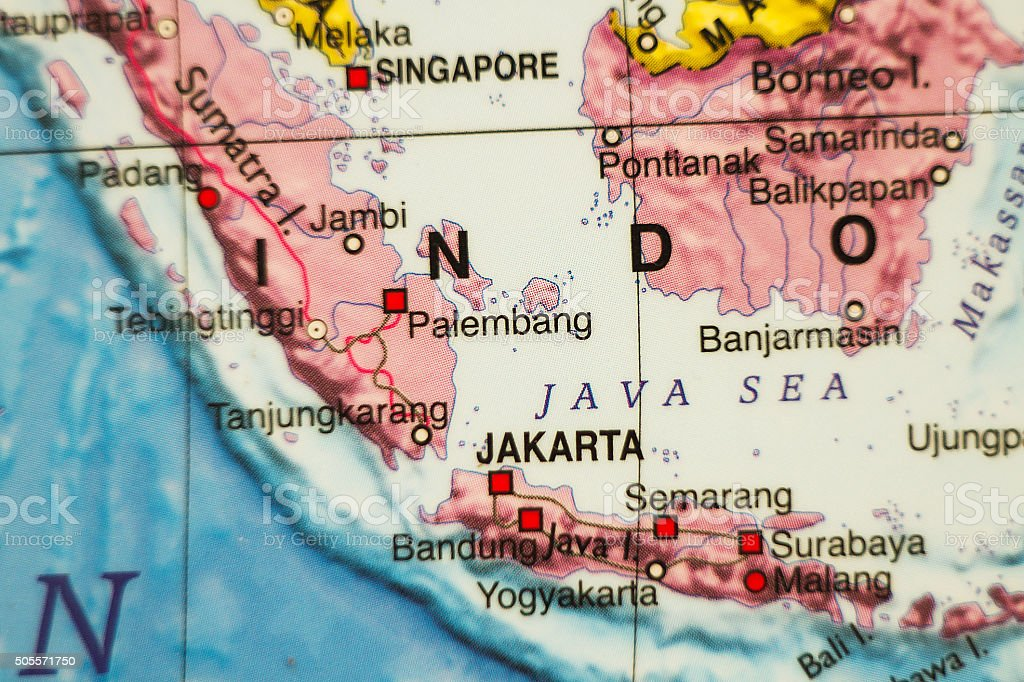 Indonesia country map . stock photo