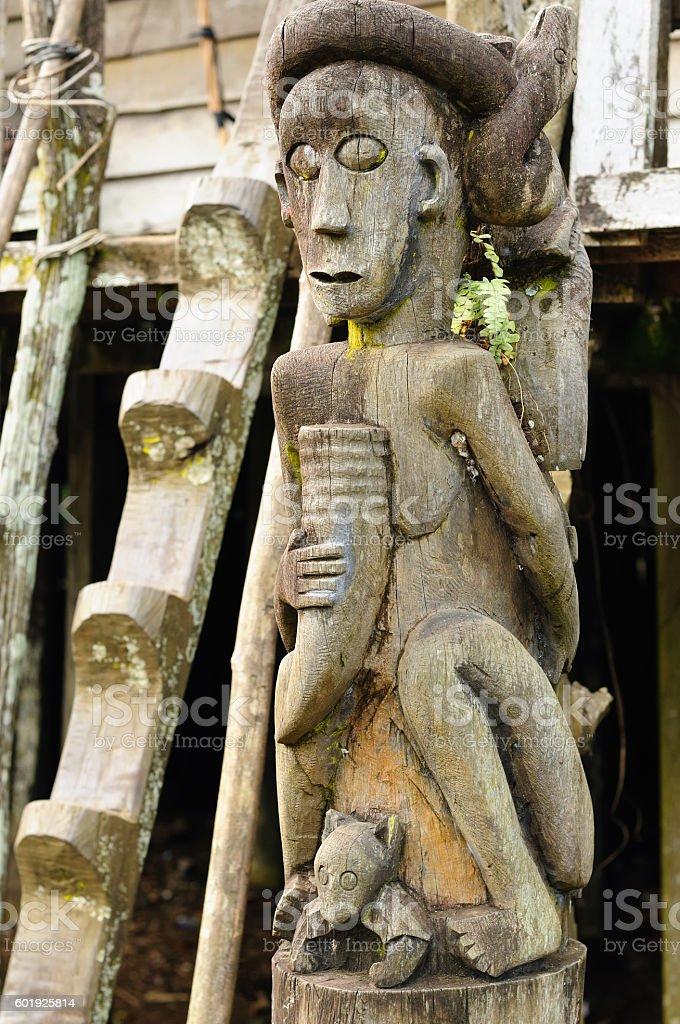 Indonesia - Dayak tribal culture stock photo