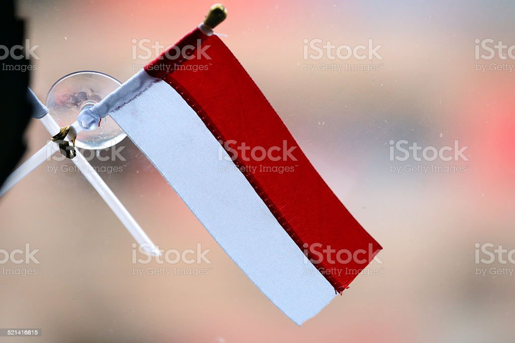 Indonesia: Flag on Windshield stock photo