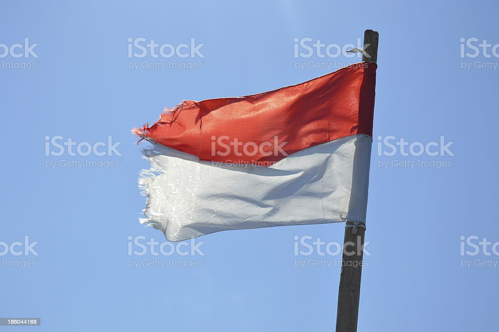 Indonesia flag stock photo