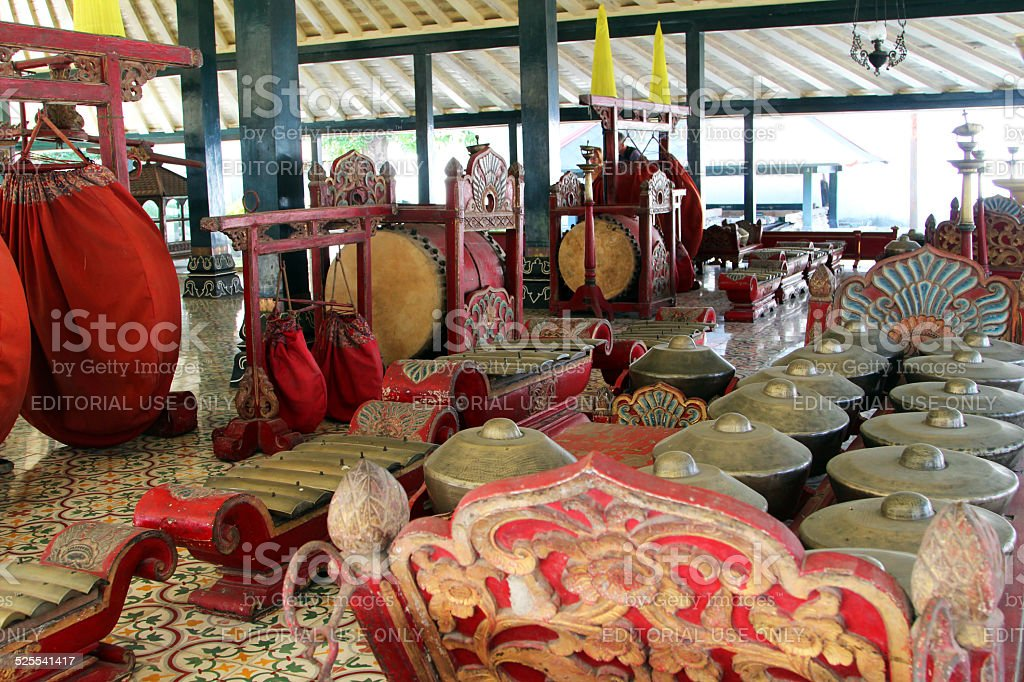 Indonesia: Gamelan Traditional Musical Instruments stock photo