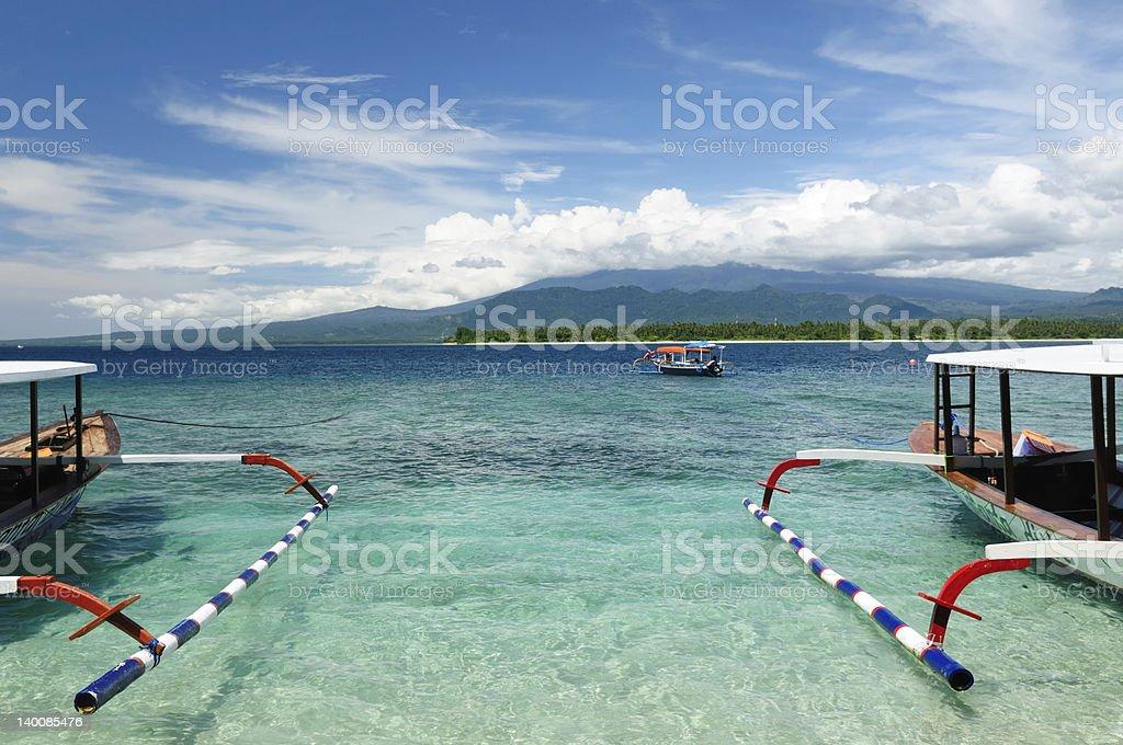 Indonesia, Gili islands royalty-free stock photo