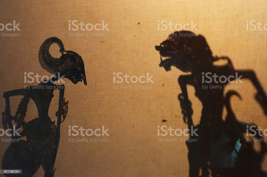 Indonesia: Javanese Shadow Puppet Performance stock photo