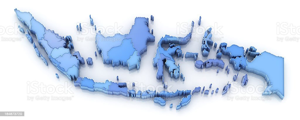 Indonesia map with provinces stock photo