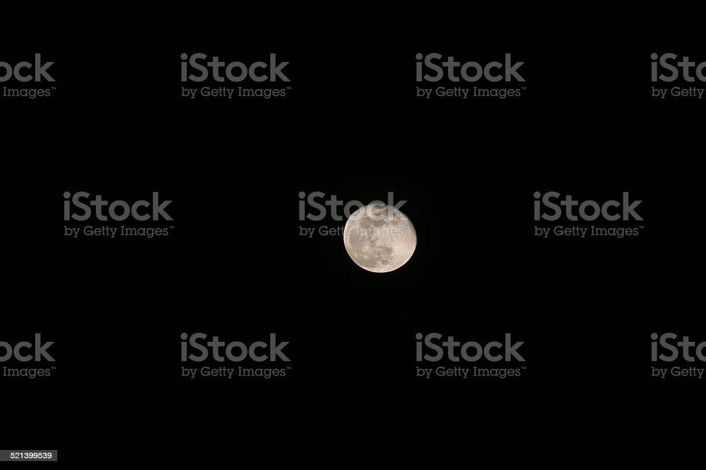 Indonesia: Moon Over Borneo stock photo