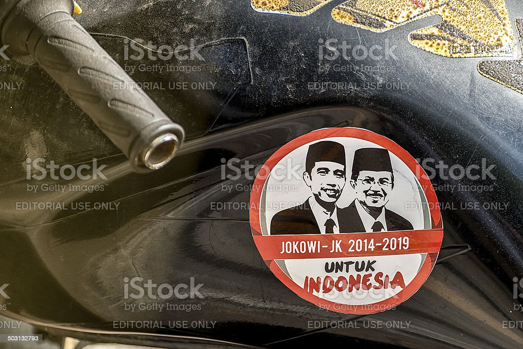 Indonesia Presidential Election Sticker stock photo