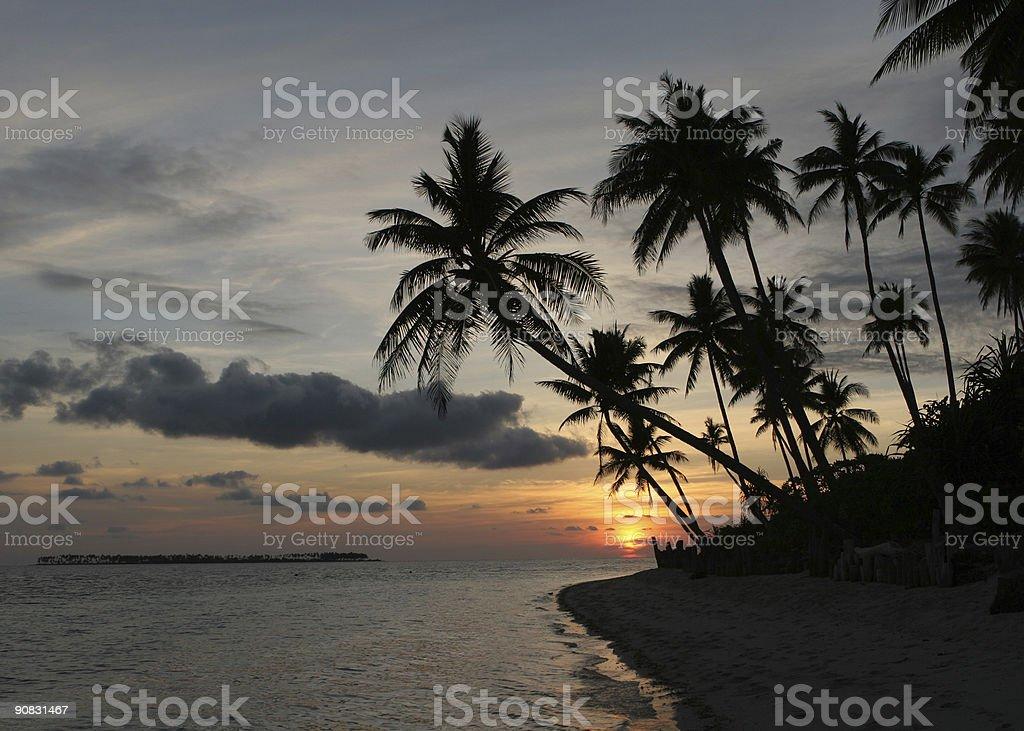 Indonesia Sunset royalty-free stock photo