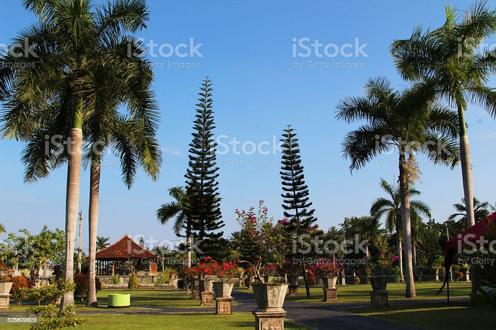 Indonesia: Ujung Water Palace in Bali stock photo