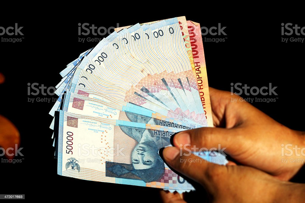 Indonesian Banknote stock photo