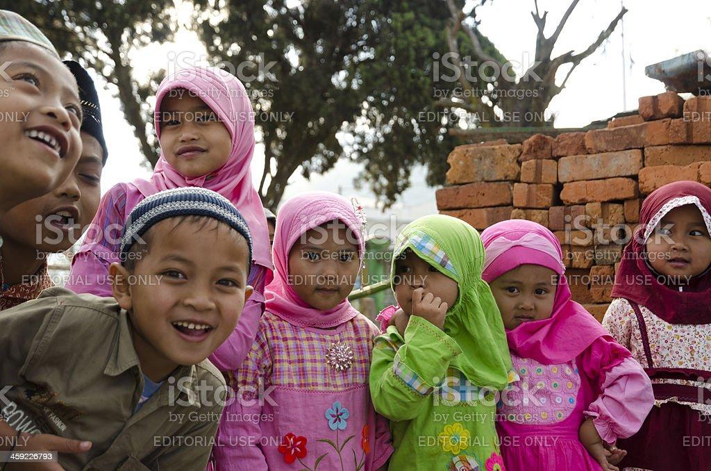Indonesian children stock photo
