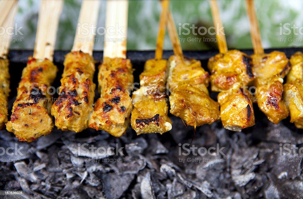 indonesian cuisine satay stock photo