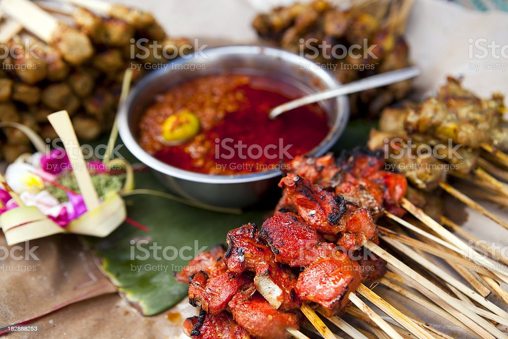 indonesian cuisine satay royalty-free stock photo