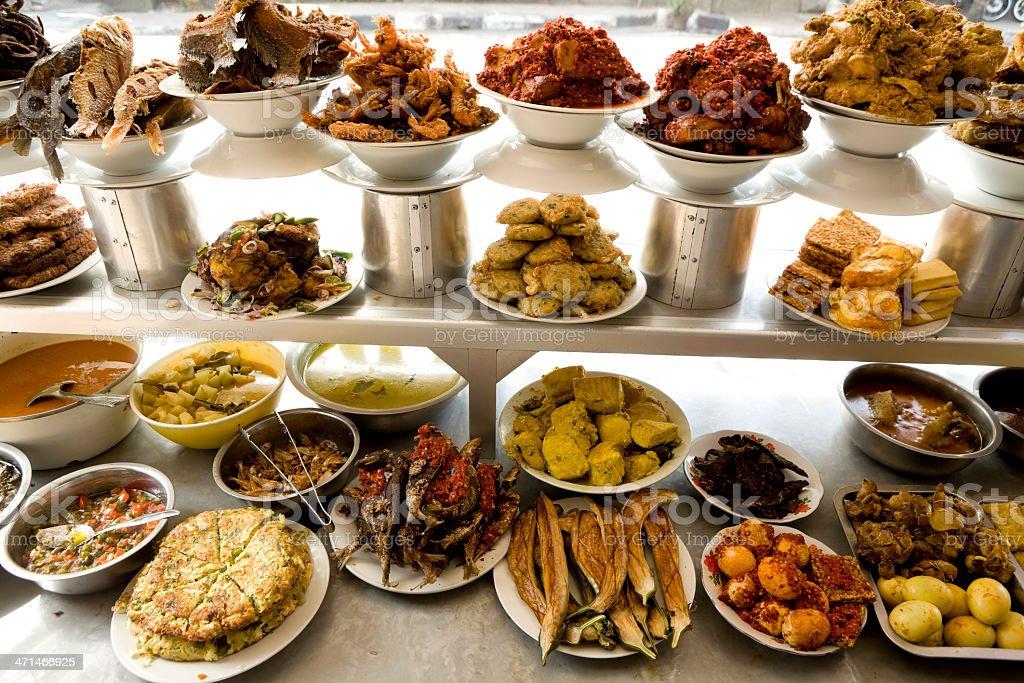 indonesian cuisine ubud bali indonesia royalty-free stock photo
