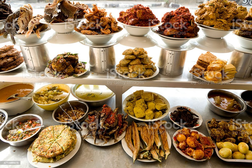 indonesian cuisine ubud bali indonesia stock photo