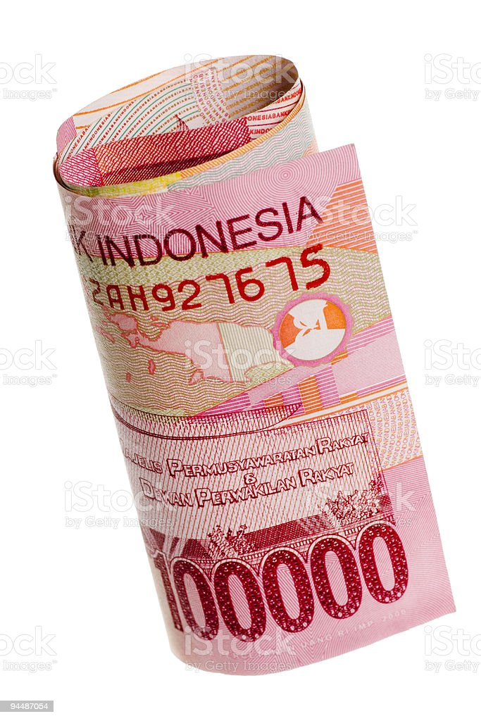 Indonesian currency rolled stock photo