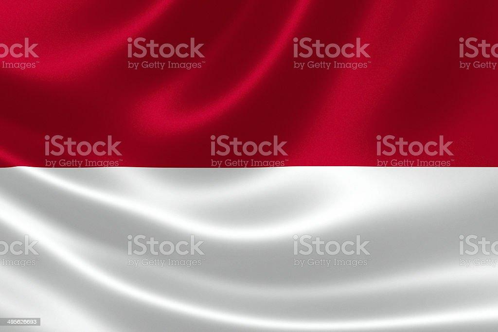 Indonesian Flag Close Up stock photo