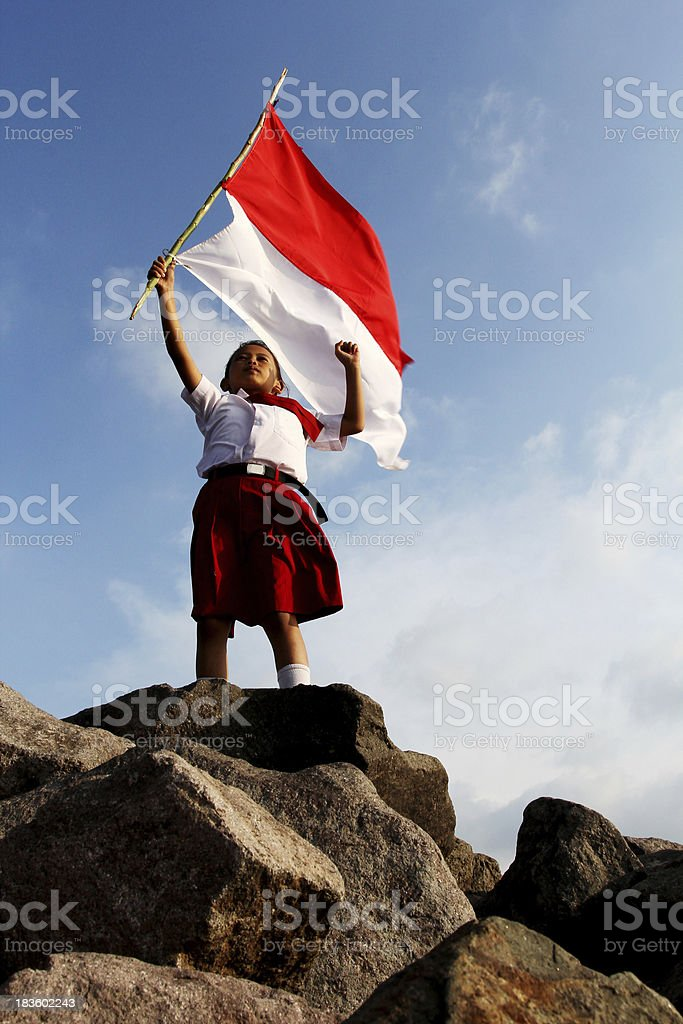 Indonesian Flag royalty-free stock photo
