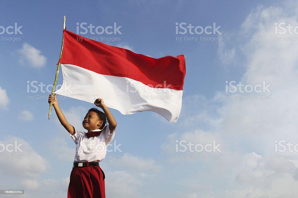 Indonesian Flag royalty-free stock photo