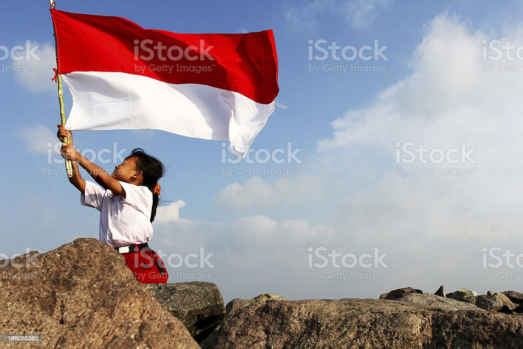 Indonesian Flag stock photo
