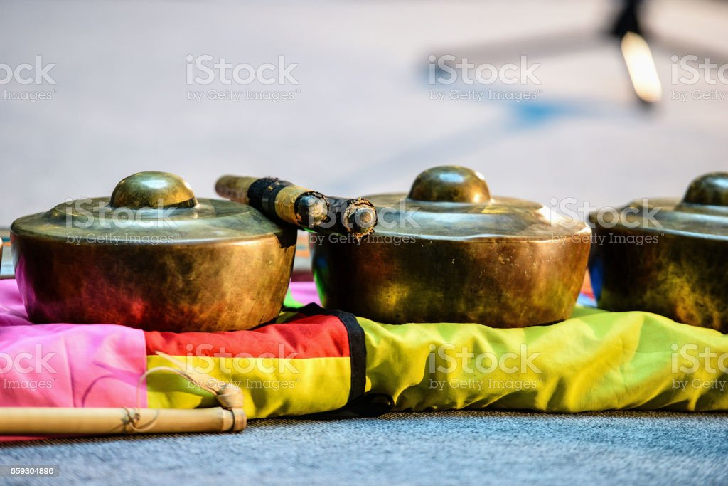 Indonesian folk music instruments. stock photo