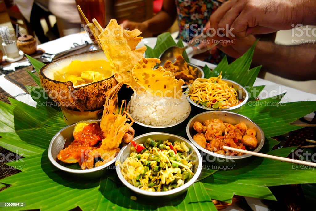 Indonesian food feast stock photo