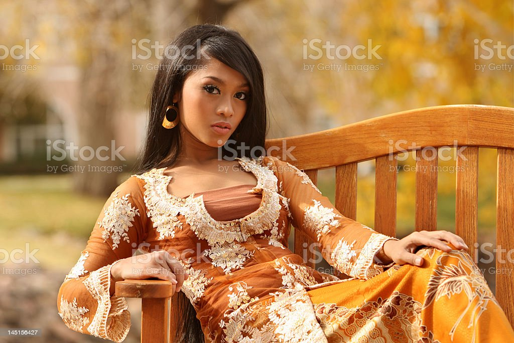 Indonesian girl royalty-free stock photo