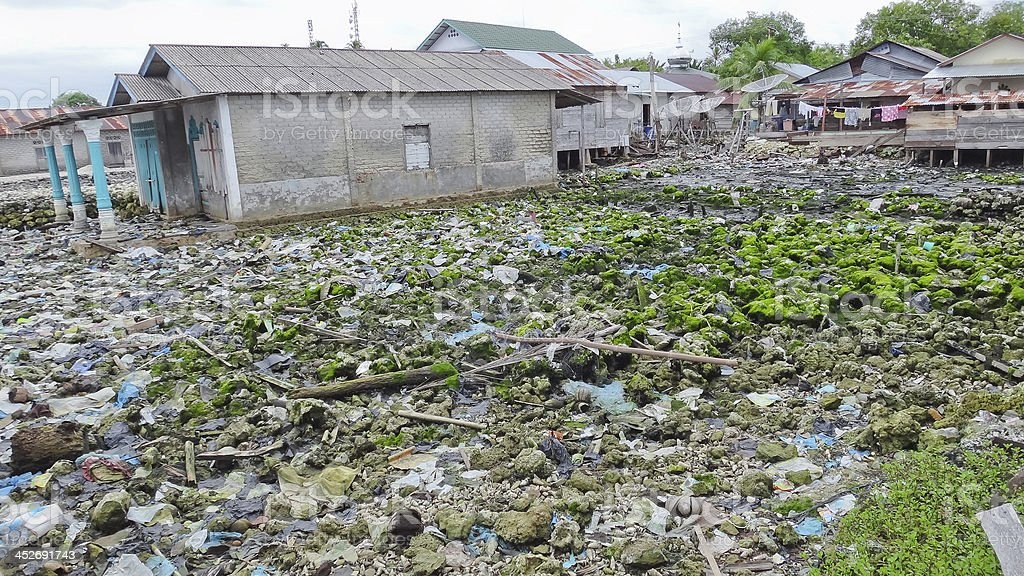 Indonesian island disaster stock photo