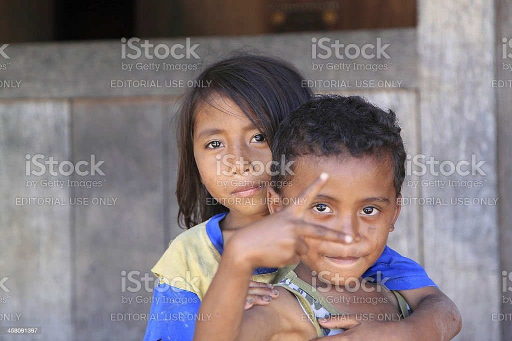 Indonesian kids Flores Indonesia royalty-free stock photo