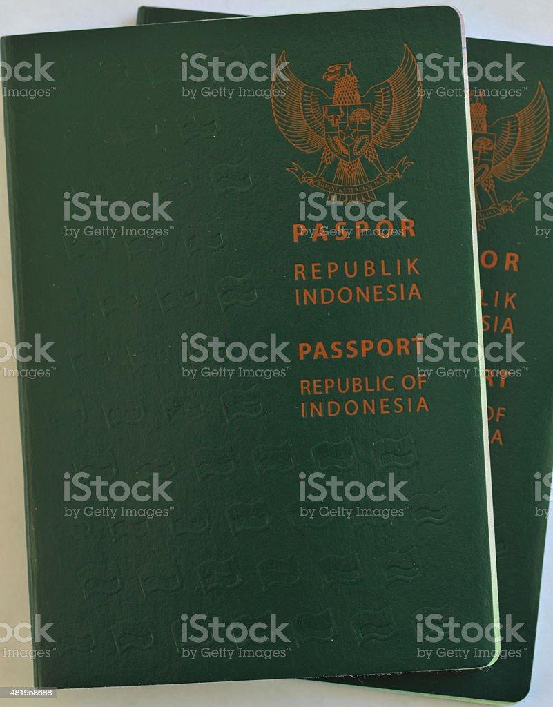 Indonesian Passports stock photo