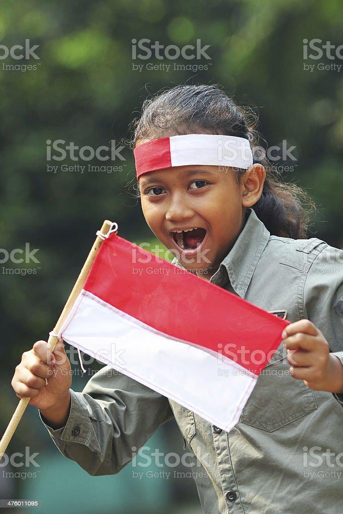 Indonesian Patriotism royalty-free stock photo