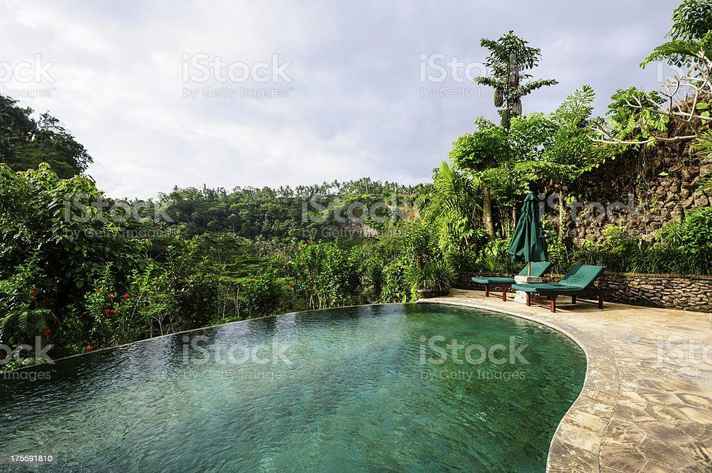 Indonesian Pool Villa stock photo