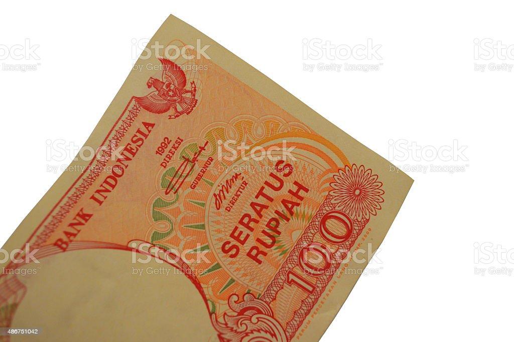 idr billete de banco de rupia indonesia foto de stock libre de derechos