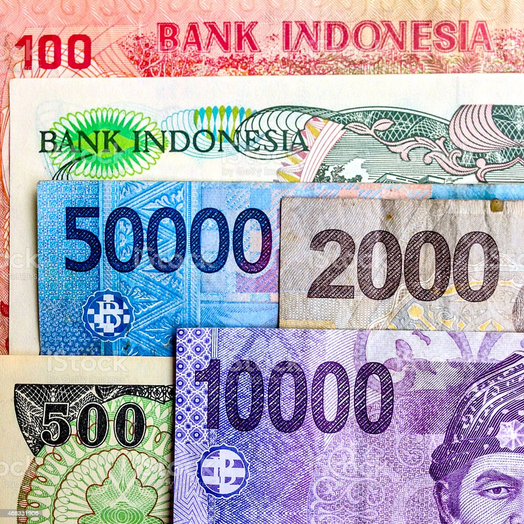 Indonesian Rupiah currency stock photo