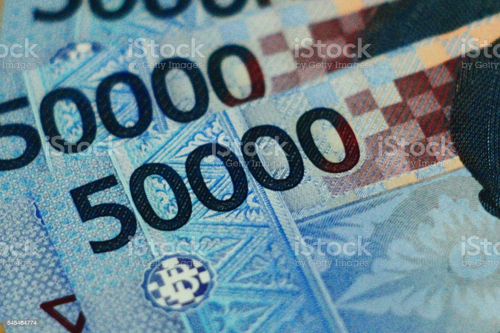 Indonesian Rupiah Money stock photo