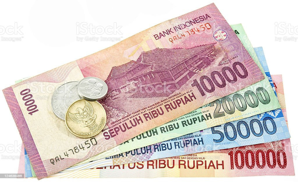 Indonesian Rupiahs royalty-free stock photo